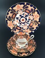 Shelley Gainsborough Imari trio and Cake plate pattern 7223