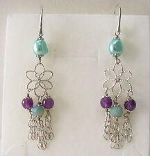 Orecchini donna Perla barocca,pietre naturali,argento 925 Natale Earrings Pearls