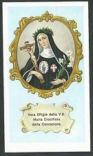 estampa antigua de Sor Maria Crocifissa andachtsbild santino holy card santini