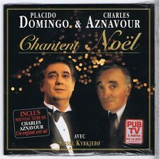 CD SINGLE (NEW) PROMO 3 TITRES AZNAVOUR DOMINGO KIRKJEBO CHANTENT NOEL