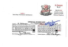 AL GEIBERGER autographed mock golf scorecard             FROM FAMOUS ROUND OF 59
