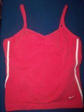 NIKE Girls sz.L-14  Pink w/White Logo Tennis/Running/Workout Sports Bra Top EUC