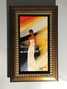 """Piano"" Emile Bellet Hand signed Hand Embellished #68/75 Giclee on Canvas"