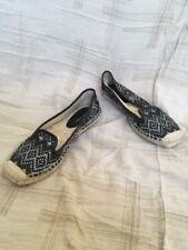 Nine West Black And White Espadrille, Women's Shoes, Size 7M
