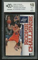 2009-10 panini season update RC challenge STEPHEN CURRY rookie BGS BCCG 10