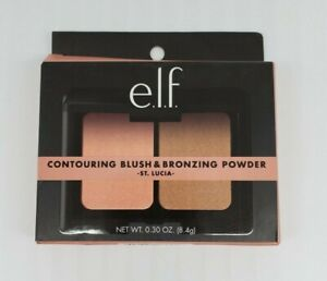 E.L.F. Contouring Blush & Bronzing Powder St. Lucia  Mirror Included