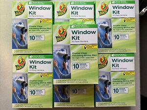 7-Duck Brand Indoor 10-Window Shrink Film Insulator Kit, 62-Inch x 420-Inch, NEW
