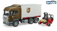 Scania R-Series UPS Truck with Forklift Bruder 03581 Scale 1:16 NEW