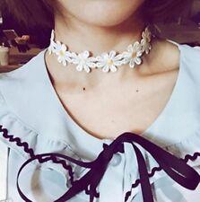 Fashion Sweet Jewelry White Lolita Lace Choker Cute Daisy Flower Collar Necklace