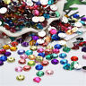 Wholesale Oval Flatback Acrylic Rhinestone Bead Sew on  DIY Craft Mixed Colors
