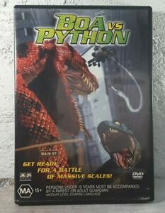 Boa Vs Python DVD - Snakes ! Monster Horror Movie 2004 - REGION 4 - FREE POST