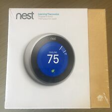 Nest Thermostat T3007ES Brand New 3rd Generation Stainless Steel Thermostat NIB