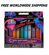 Elmer's Washable Classic Glitter Glue 10 Pens FREE WORLDWIDE SHIPPING