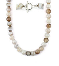 "24"" Botswana agate bead necklace - 8mm NKL230017"