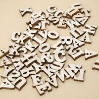 Flatback Craft Scrapbooking Miniatures Wood Letter Alphabet English Letter
