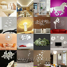 3D Acrylic Mirror DIY Wall Home Decal Mural Decor Vinyl Art Stickers Gift