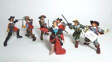 Papo Lot Of 7 Musketeers D'Artangnan Cardinal Richelieu Athos Aramis Porthos