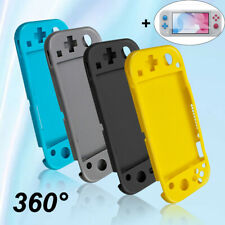 For Nintendo Switch Lite Soft Silicone Case Cover Bag+ Protective Tempered Glass