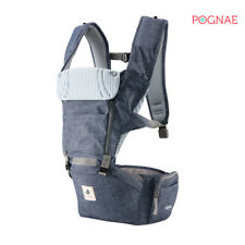 [POGNAE] All New NO5 hip seat baby carrier-denim blue