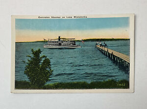 Vintage Postcard Excursion Steamer Lake Minnetonka
