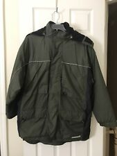Men's Removable Hoodie Winter Thick Coat Old Navy Jacket Army Green Size L