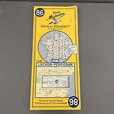 Carte Michelin ancienne 86 luchon perpignan