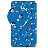 Officiel Disney Mickey Mouse Simple Drap-Housse 100% Cotton Garçons