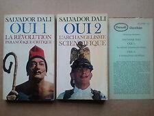 """Salvador DALI """"OUI 1"""" & """"OUI 2"""" Ed. Denoël/Gonthier avec prière d'insérer, 1979"""