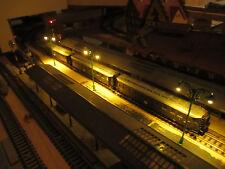 5 grüne 2-flammige 6V LED Bahnsteiglampen, 69mm (aus Metall)