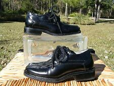 Stacy Adams Toddler Boys 7 1/2M Black Dress Church Shoes Lace Up EUC!