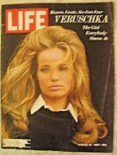 LIFE Aug 18 1967 Veruschka, Shankar, Yastrzemski, Planet of the Apes, LBJ Castro