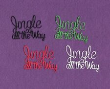 JINGLE ALL THE WAY word Christmas die cuts scrapbook cards