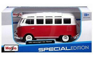 Volkswagen VW Van Samba 1:25 Scale Die-cast Metal Model Toy Van Maisto