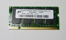 MT 256MB DDR 266 CL2.5 PC2100S-2533-1-A1 -SoDimm Ram