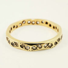 9Carat Yellow Gold Octagonal Full Eternity Spinel Ring (Size L 1/2) 2.5mm Wide