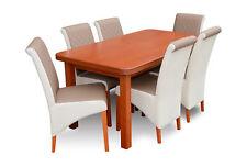 Moderne Bois Table Et Chaises Ensemble Salle à Manger Set Rembourrage 6x Neuf