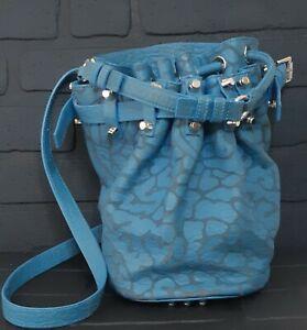 ALEXANDER WANG Pebbled Lambskin Diego Bucket  Hardware Bag