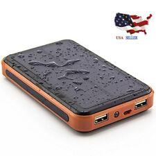 20000mAh Portable Waterproof Solar Charger Dual USB External Battery Power Bank