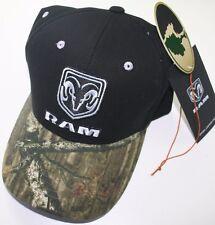 dodge ram mossy oak camo head logo mopar trucker baseball cap truck hat car rt