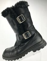 UGG Australia Winter Boots Larkspur Shearling Fur Lined Warm Shoes Womens 7 Blck