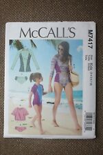 McCall's Sewing Pattern Girl's Swimsuit Size 3-4,5-6,7-8
