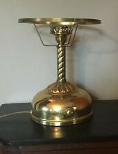 Old, Vintage, Brass, Coleman Quick-Lite Table Lamp, Electrified