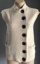 NWOT Ivory SPORTSGIRL Sleeveless Knit High Neck Jumper/Vest Size XS/8