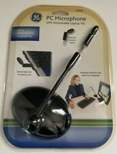 GE PC Microphone with 2 in 1: Desktop Mic with detachable Laptop Mic NEW