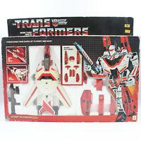 Transformers G1 Jetfire Complete w/ Unbroken Box & Weapons, Vintage 80s Robot