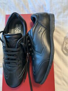 New Auth Salvatore Ferragamo Men Leggero Fashion sneakers Shoes Black 6.5 $590