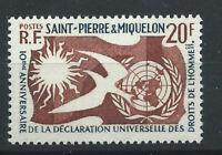 St Pierre et Miquelon N°358** (MNH) 1958 - Déclaration des droits de l'homme