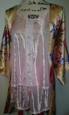 3 PC LINGERIE SET SZ L Katherine Bishop Robe and Petra Nightie Set