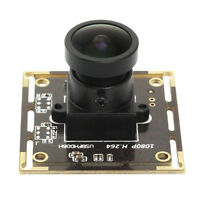 1920*1080 USB Sony IMX322 Security Camera Module 170 Fisheye Lens Low Light YUY2