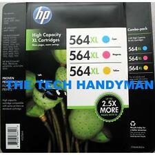 3-PACK HP GENUINE 564XL Color Ink (RETAIL BOX) PHOTOSMART 5510 5515 5520 5525